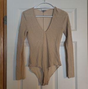Nude Shimmery Bodysuit
